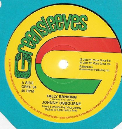 Johnny Osbourne - Fally Ranking / Trenchtown School (Greensleeves) 12""